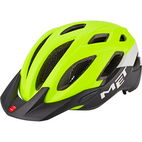 MET Crossover Helmet safety yellow/white/black